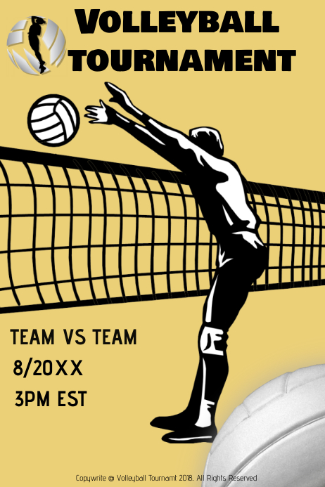 Volleyball Tournament Flyer Template Roho4senses