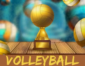 Volleyball Tournament Template Pamflet (Letter AS)