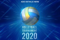 Volleyball Tournament Template Póster