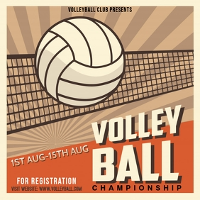 Volleyball Tournament Template Instagram-bericht