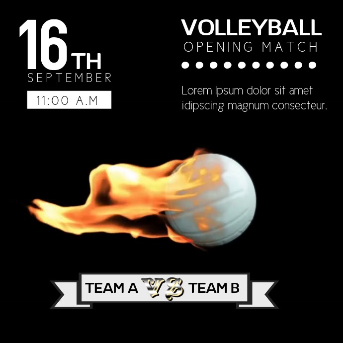 VOLLEYBALL VIDEO TEMPLATE