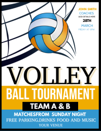 Volleytball tournament Flyer (Letter pang-US) template