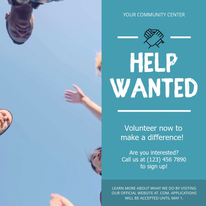Volunteer Drive Charity Square Drive Vierkant (1:1) template