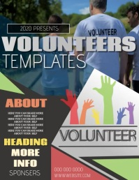 VOLUNTEER EVENT FLYER POSTER TEMPLATE