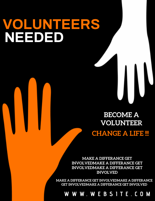 VOLUNTEER EVENT Flyer Template Volantino (US Letter)