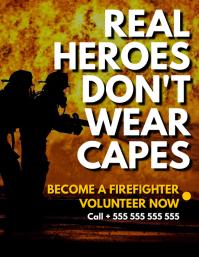 volunteer firefighter Volante (Carta US) template