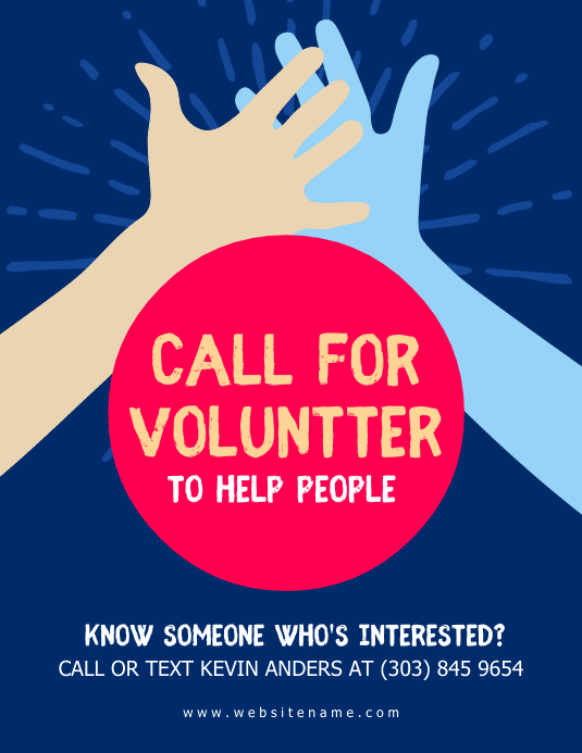 Volunteer Flyer Template Postermywall