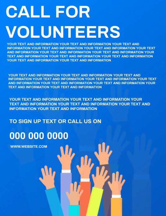 VOLUNTEER Flyer Template Volantino (US Letter)