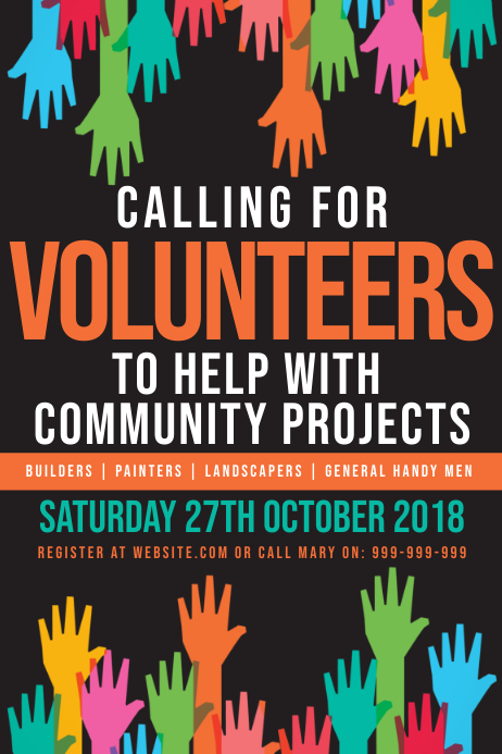 Volunteer Poster template