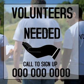 VOLUNTEER SIGN UP AD Square (1:1) template