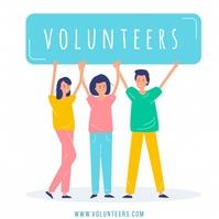 Volunteer Template Publicación de Instagram