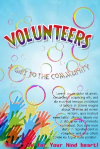 Volunteers - a gift to the community (poster)