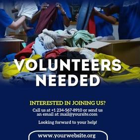 Volunteers Needed Square (1:1) template