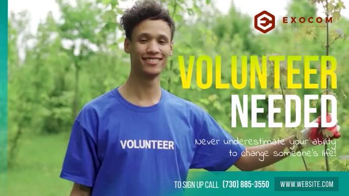 Volunteers Needed Facebook Cover Video Facebook-omslagvideo (16: 9) template