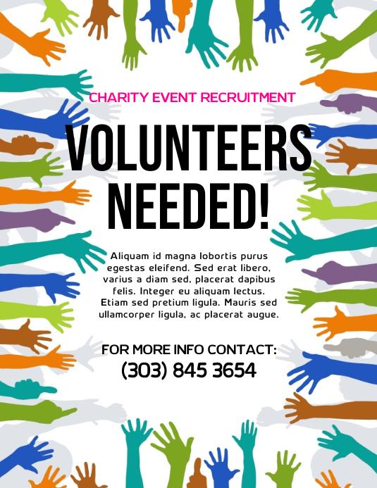 volunteers needed flyer template postermywall