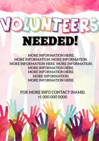 Volunteers Needed Flyer Template A4