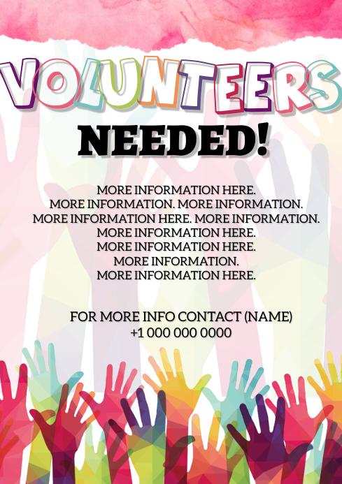 Volunteers Needed Flyer Template A4