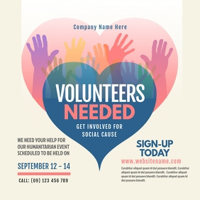 Volunteers Needed Instagram Post Instagram-bericht template
