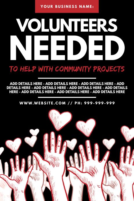 Volunteers Needed Poster Póster template