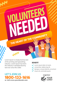 Volunteers Needed Poster Flyer