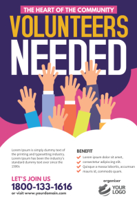 Volunteers Needed Poster Flyer template