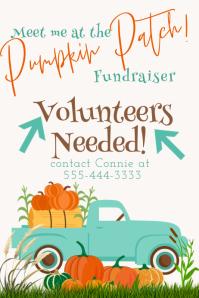 Volunteers Needed Pumpkin Patch Fundraiser Po Poster template