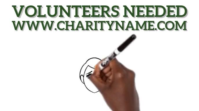 Volunteers Needed Video Ad Tampilan Digital (16:9) template
