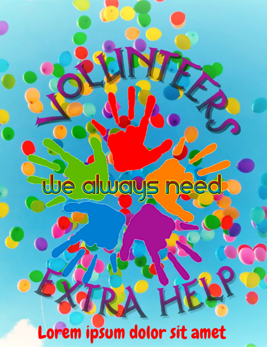 Volunteers - we need extra help Flyer (Letter pang-US) template