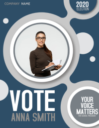 Vote,vote for me, election Flyer (US Letter) template
