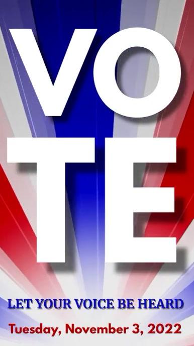 Vote Election Campaign Banner Video Digitalt display (9:16) template