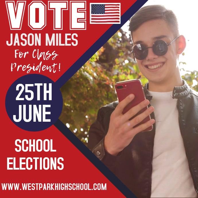 Vote Election Campaign Template Message Instagram