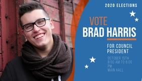 Vote for president 2020 campaign blog header Nagłowek bloga template