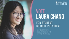 Vote for Student Council President elections Blog Header template