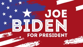 Vote Joe Biden for president 2020 campaign template