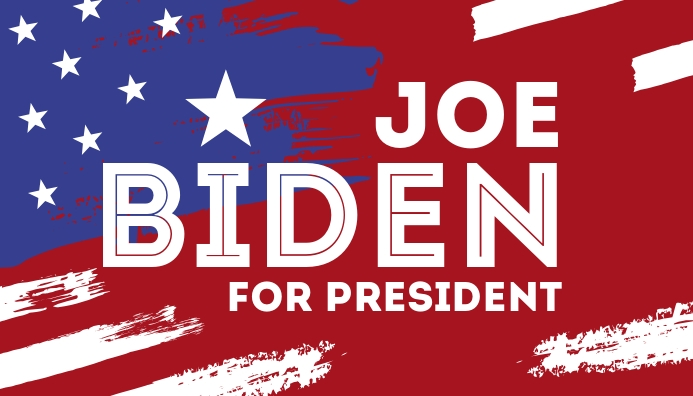 Vote Joe Biden for president 2020 campaign ส่วนหัวบล็อก template