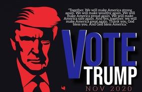 VOTE PRESIDENT TRUMP 2020 Flyer Template Tabloid
