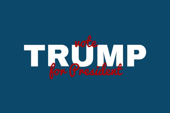 vote trump Плакат template