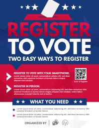 Voter Registration Flyer template