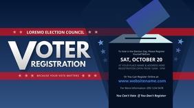 Voter Registration Twitter Post template