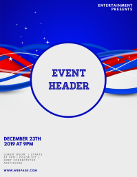 voting campaign event flyer design template