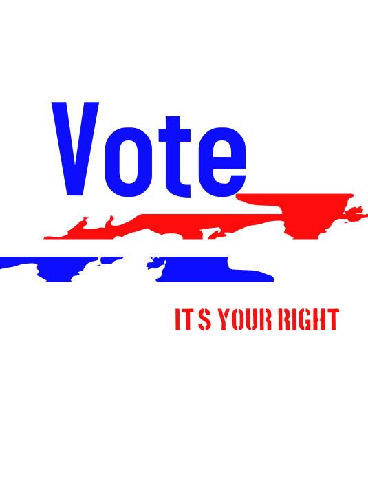 voting flyer Folder (US Letter) template