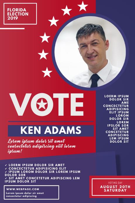 Voting Flyer Template Плакат