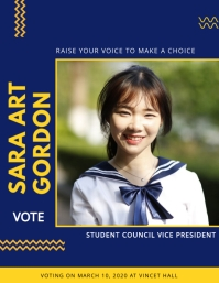 Voting School Election Poster Template Flyer (US Letter)
