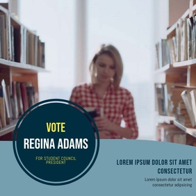 Voting vote campaign video template for Instagram