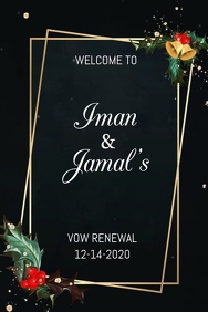 Vow Renewal Welcome Sign