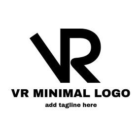 VR alphanumeric logo
