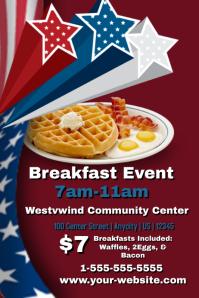 Waffle Breakfast Template