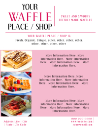 Waffle Flyer Template