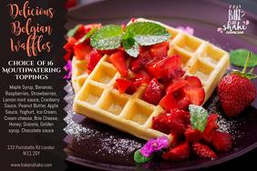 Waffles Breakfast Poster Template