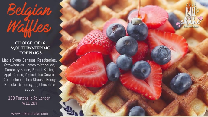 Waffles Breakfast Video Ad Template